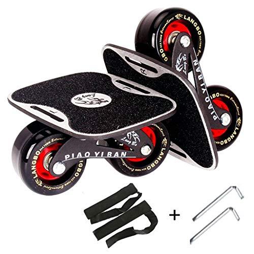 DIMPLEYA Treibbrett, Geteiltes Skateboard Rollschuhe Aluminiumlegierung PU-Rad Erwachsene Reisen Professioneller Straßenblitz Für Kinder Vier Runden - Räder Skateboard Professionelle