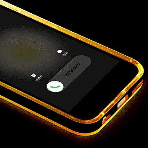 """Skitic Appel Entrant Flash LED Blink Lumière Coque pour iPhone 6 / 6S 4.7"""", Ultra Mince Transparente Clair Housse de Protection Souple TPU Case + PC Hard Bumper Cover Elegant Shining Arrière Coquille  Style 05"""