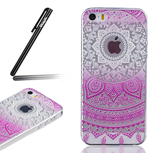 ukayfe-iphone-5-5s-se-copertura-pittura-gradiente-fiore-design-crystal-clear-shinny-scintillio-bling
