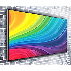 Rainbow Panoramic Canvas Art Print Picture Framed XXL 55 inch x 24 inch