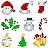 Schablone mit Weihnachtsmotiven, wiederverwendbar, für Kinder, zum Basteln von Weihnachtskarten, Schablone - Verwendung auf Papierprojekten, Sammelalben, Wänden, Böden, Stoff, Möbel, Glas, Holz usw. L