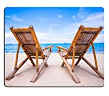 Best Luxlady Beach Chairs - Luxlady Mousepads Beach chairs on perfect tropical white Review