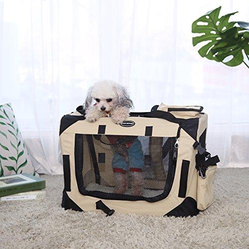 Songmics Hundebox faltbar Oxford Gewebe Maße auswählbar – S 50 x 35 x 35 cm PDC50W - 2