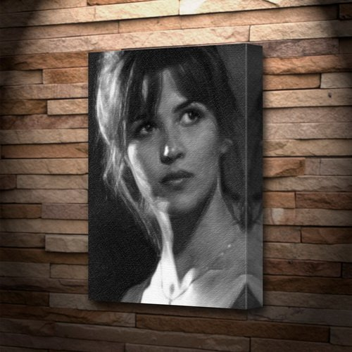 SOPHIE MARCEAU - Canvas Print (A4 - Signed by the Artist) #js001
