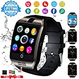 Smartwatch con Whatsapp,Bluetooth Smart Watch Pantalla táctil,Reloj Inteligente Hombre con Cámara, Impermeable Smartwatches Telefono Sport Fitness Tracker Compatible Android iOS para Hombre Mujer