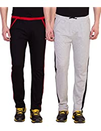 American-Elm Men's Cotton Track Pants- Pack of 2