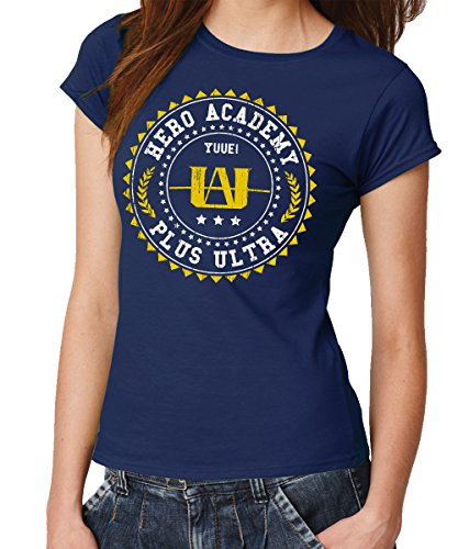 - Hero Academy - Girls T-Shirt Navy, Größe M -