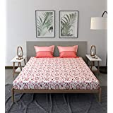 Trident Comfort Living 100% Cotton Double Bedsheet with 2 Pillow Covers STEPHANE Maroon, red, Queen