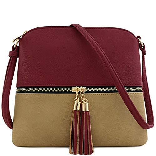 Damen Retro Mini Diagonale Umhängetasche Day.LIN Vintage Geldbörse Tasche Leder Umhängetasche Umhängetasche (J)