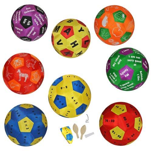 (XL - Lernspielball - Zahlen Rechnen Multiplikation - Lernball zum Lernen Rechnen Mathematik Multiplizieren Mal einfach - Lernspielball - Spielend für Kinder Erwachsene)