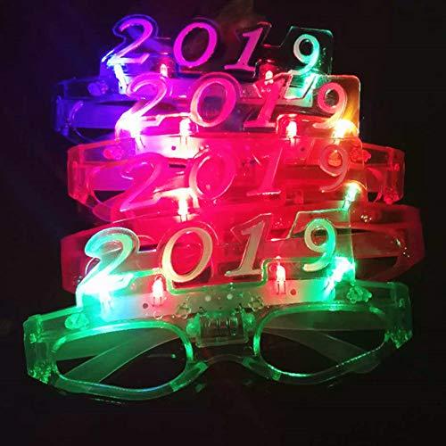 Derkoly Weihnachtsnummer 2019 LED-Flaschen-Gläser Rahmen Luminous Glow Party Club Prop-Random Color