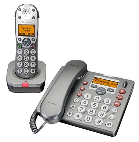 Audioline Powertel 880 DUO Telefon mit Anrufbeantworter