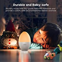 Night Light Baby, VAVA Night Lights for Children, Bedside Lamp, Safe ABS+PP, Breakage Resistant, Eye Caring LED, Adjustable Brightness and Color, Touch Control, IP65 Waterproof, 80 hours Runtime by VAVA