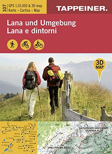 KOKA107 Kombinierte Wanderkarte Lana und Umgebung 1:35.000 (Kombinierte Sommer-Wanderkarten Südtirol)