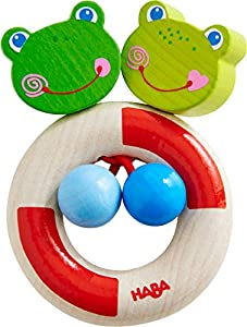 HABA 303923 Juguete de Peluche - Juguetes de Peluche (Rana, Multicolor, Madera, 0,5 año(s), Niño/niña, 90 mm)