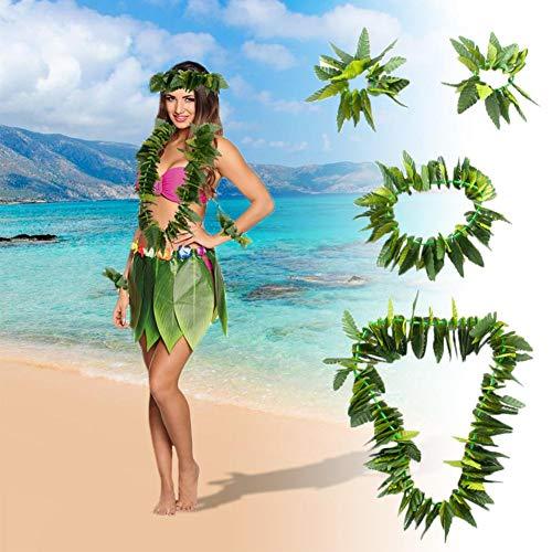 Hawaiianisches Kostüm Set tropischer Erwachsene Kostüm für Strand Luau Hawaii Party Zubehör