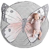 ZCLD Algodón Redondo Mariposa Alfombra de bebé Alfombra de bebé Piso de Juego Alfombras con Aire