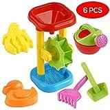 Bramble Sand & Wassermühle Set - 6 sandmühle Strand Spielzeug - Ideales Wasserspiel für Strand, Bad & Schwimmbad, sandkasten