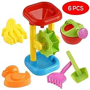Bramble Moulin à Sable et à Eau - 6 Jouets de Plage - Jeu de Plein air pour la Plage, Le Bain, la Piscine et Le Parc, Enfant bac Sable Jouets ,