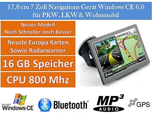 178cm-7-Zoll16GB-Speicher-PKWLKWWohnmobilGPS-NavigationsgertNavigation-Neuste-Karten-sowie-Radarwarner-Erweiterbarer-Speicher-Fahrspurassistent-Geschwindigkeitsanzeige