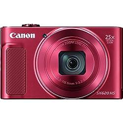 Canon - Powershot SX620 - Appareil photo numérique compact - Rouge