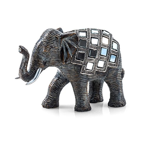 Pajoma 20688 Elephant Figure Mosaic, Resin, Height 10 cm