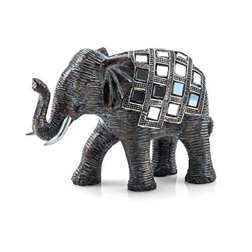 Pajoma 20688Elefante Figura Mosaico, Resina, Altura 10cm