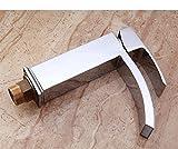 ETERNAL QUALITY Badezimmer Waschbecken Wasserhahn Messing Hahn Waschraum Mischer Mischbatterie Tippen Sie auf heiße und kalte Becken professionelle heiße und kalte Waschb