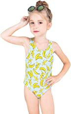 Chinatera Girl's One Piece Swimsuit Cartoon Animal Print Sunsuit Swim Hat Beachwear Swimsuit