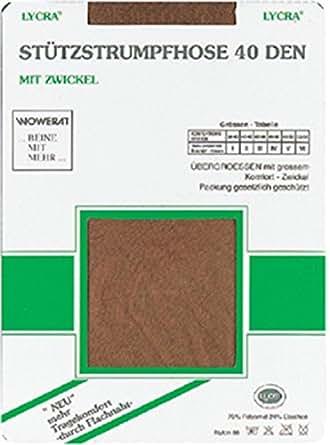 5 Paar Lycra Stützstrumpfhose 40 den mit Figur formendem Effekt auch in Übergröße Farbe Diamant Größe 38/40