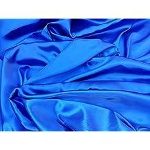 60 cm 150 cm de ancho líquido vestido de satén tela azul ...