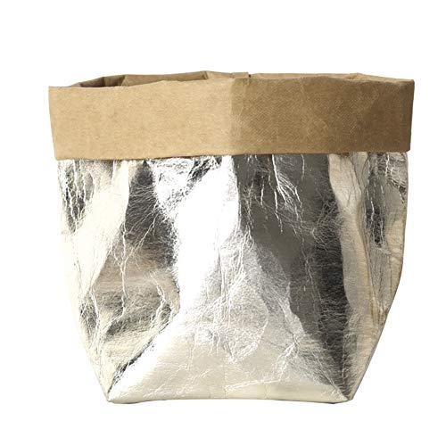 Sac de rangement réutilisable en papier kraft lavable et créatif