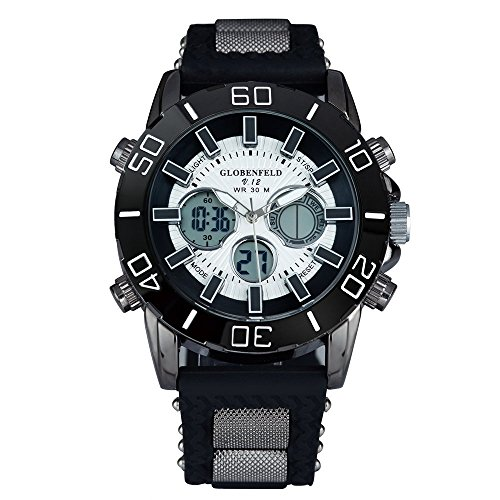 Globenfeld-Limited-Edition-V12-Mens-Sports-Watch-with-5-Year-Manufacturers-Warranty-Black-Metal-Casing-and-Durable-Rubber-Wrist-Band