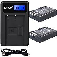TOP-MAX® 2X EN-EL9 Li-ion Batería + Cargador USB para Nikon D40 D40x D60 D3000 D5000