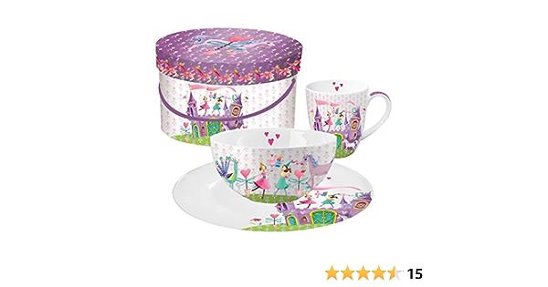 NUOVO Set da colazione High Tea TEA CUP /& Toast//Biscotto//Piatto per torta bianco Set di 2