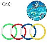 4pcs / 1Set Dive Anello Gettare I Giocattoli Piscina Diving Gioco Water Toys Beach Estate Bambini Immersione Water Ring Sport