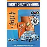 PPD A4 50 Fogli Di Carta Vinile Adesiva Semi-Trasparente Per Stampanti A Getto D'Inchiostro Inkjet - PPD-39F-50