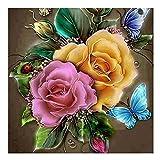 DIY Diamant Malerei 5d Diamond painting Voll Stickerei Malerei Kreuzstich Wanddekoration Rose