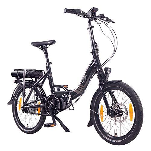 NCM Paris MAX N8R Bicicleta eléctrica Plegable, 250W, Batería 36V 14Ah 504Wh, 20' (Negro)
