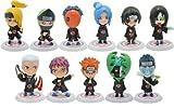 Japanese Manga Naruto Akatsuki Action Figures Set of 11 Pieces Set B by kcslam