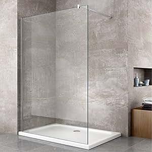 Parete doccia fissa walk in 8 mm cristallo temperato - Cabine doccia in vetro ...