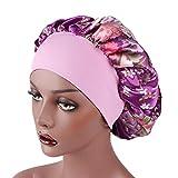 Dinglong Grosses Soldes 2018 Mode Femmes Floral Imprimé Satin Bonnet Large Bande Cap...