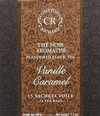 Comptoirs Richard Thé Noir Vanille Caramel 15 Sachets 30 g - Lot de 2
