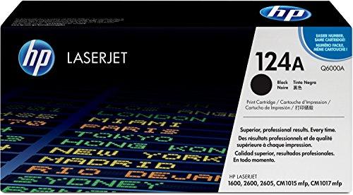HP 124A (Q6000A) Schwarz Original Toner für HP Color Laserjet 2600, 2605, 1600, CM1016, CM1017 -