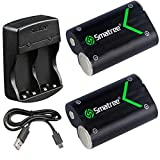 Smatree Rechargeable NI-MH Battery 2000mAH (2-Pack) and Dual-Channel Charger for Xbox One/Xbox One S Wireless Controller