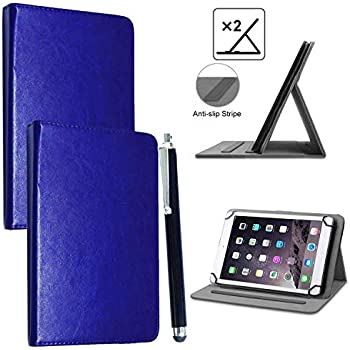 Universal Rotating 360 Stand Wallet Leather Cover Case For Various Tablet Pen