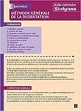 Méthode générale de la dissertation...