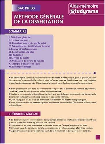 Méthode générale de la dissertation