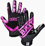Battle Football Glove, Pink/Black, Adult X-Large