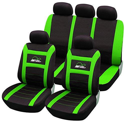 Sitzbezüge universal für Auto Schonbezüge Sitzbezug Schonbezug Set Super Speed Grün/ Schwarz AS7259gn